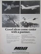 8/1973 PUB MBB MESSERSCHMITT PANAVIA MRCA AIRBUS A300 SATELLITE HELIOS ROLAND AD