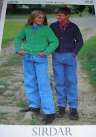 Original Sirdar Knitting Pattern Boy's/Girl's DK Round & V-Neck Cardigans 4910