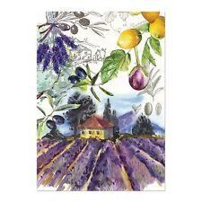Michel Design Works Cotton Kitchen Tea Towel Campagna Mediterranean Fields - NEW