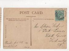 Miss Lilian Fisher Edith Terrace Edith Grove Fulham Road SW London 1903 321b