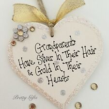 Grandparents Have Silver In Their Hair & Gold In Their Hearts Plaque Gift