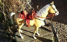 Johnny West MARX horse tooled western saddle set no horse