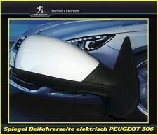 Seitenspiegel, Außenspiegel elektrisch Beifahrerseite Peugeot 306 komplett