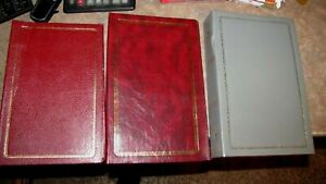 Lot of 3 Vintage 3 Ring Photo Albums with (4X6), 68 Pages, Total of 408 Photos