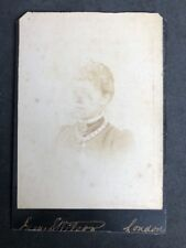 Victorian Cabinet Card: Lady: Wilson: London: Big Chain Locket Necklace