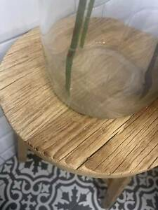 Antique Rustic Round Stool  Old Barn Milking Stool Weathered Elm - Height 50cm