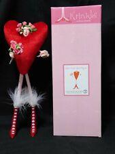 New ListingDept 56 Krinkles Patience Brewster Red Heart Girl Figurine In Original Box Roses