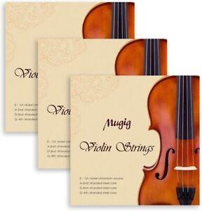 Violinensaiten Geigensaiten Saitenset Größe 4/4 & 3/4 Violine Saiten 3 x 4 stück