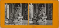Rome Saint Pierre intérieur Tombeau Georges XIII Photo Stereo Vintage Argentique