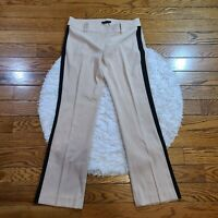 NWT Ann Taylor Women's Tan Tuxedo Striped Pants Petite Size 8 P
