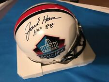 Jack Ham Signed Auto HOF Mini Helmet w/Inscription JSA Witness