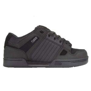 DVS NEW Men's Celsius Leather Shoes - Black / Black Leather BNWT