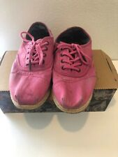 TOMS Women's Cordones Pink Ceara Sole Laced Size 10