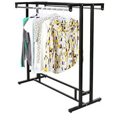 Stainless Steel Double Rod Hangrail Department Store Style Clothes /Display Rack