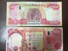 More details for 100k 4 x 25000 latest new iraqi dinars uncirculated 2020 iraq dinar