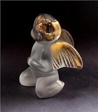 Lalique Crystal & 24K Gold Elton John Cherub beautiful Signed Numbered