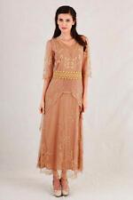 Romantic Nataya Titanic Dress 40178 gold  Size Large Alternative Wedding Dress
