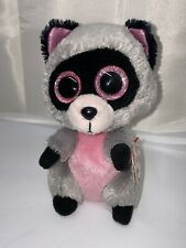 Ty Beanie Boo Rocco The Racoon. 6'. MWNT.