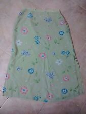 Women Laura Ashley green floral skirt size US12, EU-42, UK-16, Made in UK