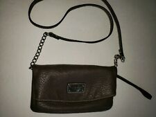 Nine West Tunnel Convertible Cross Body Bag Taupe preowned but Never Used