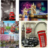 London View DIY 5D Diamond Painting Embroidery Cross Craft Stitch Kit Home Decor