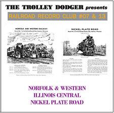 Vintage N&W IC & Nickel Plate Steam Audio on CD - Railroad Record Club #07 & 13