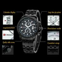 CURREN Fashion Men's Stainless Steel Chronograph Analog Quartz Date Wrist Watch