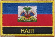 Haiti State Crest Flag Embroidered Patch Badge - Sew or Iron on