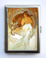 Alphonse Mucha Music Cigarette Case id case Wallet Business Card Holder