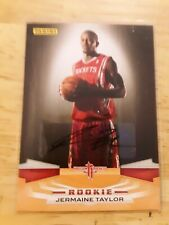 Jermaine Taylor Houston Rockets Panini Certified Authentic Autograph Card