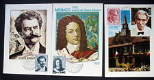 MONACO 3 MAXI CARDS FAMOUS PEOPLE j.STRAUS-SAINT-SIMON & DOCTEUR SCHWEITZR