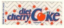"Diet Cherry Coke Vending Machine Insert, Zig Zag Logo, 1 3/8"" x 3 3/8"""