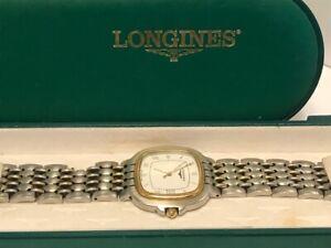 Longines Men Watch Flagship 156 Swiss 7309 Quartz 18K Gold Plated Vintage.-C865