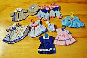 "Vintage LOT DOLL CLOTHES fits Vogue Ginny Mme Alexander Nancy Ann 8"" Walker"