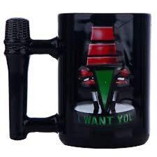 The Voice TV Show Large Coffee Tea Mug Microphone Heat Sensitive Black NEW