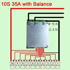 BMS PCB 10S 36V 37v 35A Li-ion Battery Batterie with BALANCE for ebike escooter