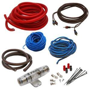 Inex 2000w 4 AWG gauge complete car audio amplifier amp sub wiring kit