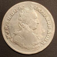 1754 Austrian Netherlands Silver Maria Theresa 1/2 Ducaton!