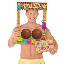 Hawaiian Tiki Hut Beach Bar Summer Party Hula Selfie Photo Prop Frame Party