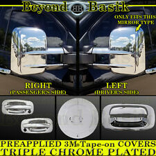 1999-2006 SILVERADO SIERRA Chrome Door Handle+Gas+Tow Mirror+Tailgate COVERS 2DR