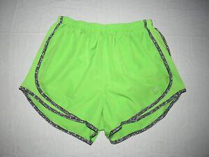 "Nike Women's Dri-Fit Key Lime Green Running Lined Shorts Size M Waist 28""-30"""