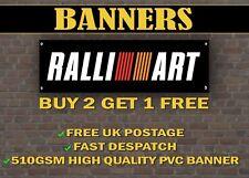 LARGE 2 METRE Mitsibishi RALLIART Banner for Garage / Shop Promotional Item