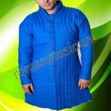 Thick Blue Gambeson Full Sleeve Armor Reenactment Medieval