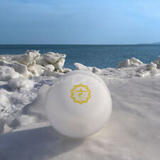 "8"" E Solar Yellow Chakra Symble Quartz Crystal Singing Bowl Heal Stone"