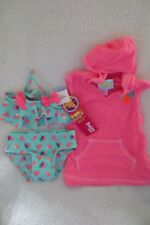 Girls Baby Buns Swimwear Terry Cover up Set Size 12 Months Hot Pin New