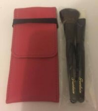 Guerlain Set of 2 Makeup Blusher Foundation Brushes with Pink  Leather Pouch New