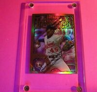 1996 Topps Finest FRANCHISES REFRACTOR #27 Pedro Martinez w COATING Intimidators