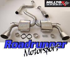 """Milltek Focus RS MK2 3"""" De Escape Sistema de Espalda Gato de acero no-res y Deportes Gato"""