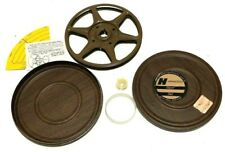 Vintage Hardwood  Reel & Can USA Metal Film Can 8mm