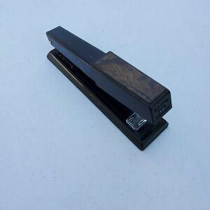 Vintage Bates 640 Black Faux Woodgrain Heavy Duty Stapler Tested!!!